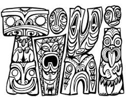 Small Picture Maori Tiki Colouring Pages DIY and Crafts Pinterest Maori