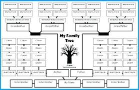 Genealogy Chart Template Free Family Tree Template Blank Chart Templates