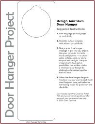 Free Door Hangers Templates Free Door Hangers Agreenishlife Co