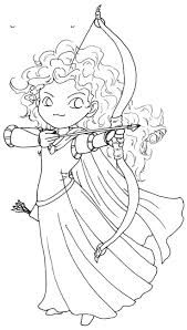 Posing of princess merida brave coloring pages