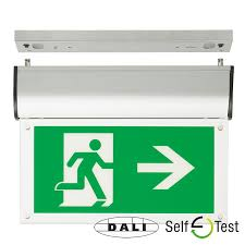 signalledled exit signs emergency lighting products signalled exit sign dali and self test