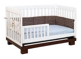 bedroom babyletto modo  in  convertible crib espresso and white