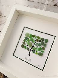 beach glass art sea glass art