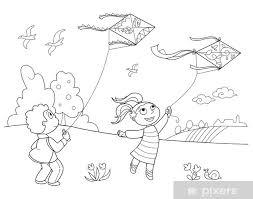 Bambini Che Giocano Con Gli Aquiloni Wall Mural Pixers We Live