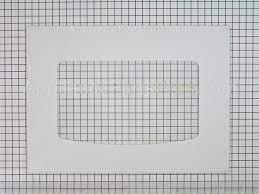 ge wb56t10187 oven door glass wht