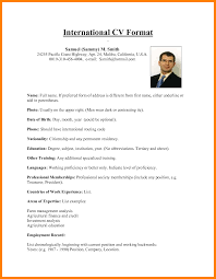 5 International Cv Format Hostess Resume
