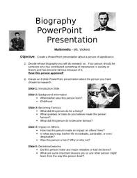 powerpoint biography biography powerpoint project by sheri powers teachers pay teachers