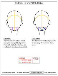 Box Braid Parting Pattern