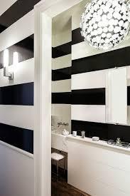 Black and White Stripe Walls