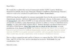 Cover Letter Elsevier Cover Letter For Journal Paper Submission