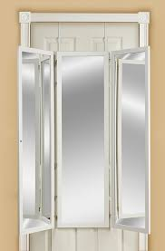 Over The Door Mirrors Amazoncom Mirrotek 3vu1448wt Triple View Professional Over The