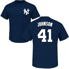 Majestic Replica Jersey Size Chart Majestic Replica Randy Johnson Youth White Navy Blue