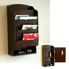 home excellent splendid wall mounted key rack interdesign bronze mount letter holder wood inside splendid
