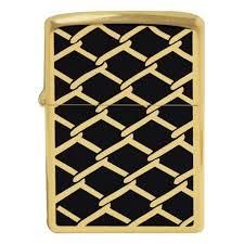 <b>Зажигалка Zippo</b> 28675 Chain Link <b>Fence Design</b> High Polish Brass
