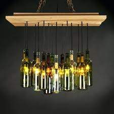 diy wine bottle chandelier lighting kit pottery barn diy wine bottle chandelier