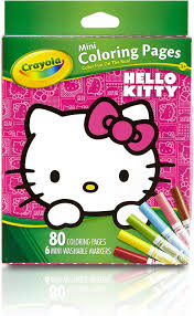 Free hello kitty coloring pages for you to color online, or print out and use crayons, markers, and paints. Amazon Com Crayola Hello Kitty Mini Coloring Pages Markers 86 Piece Set Art Gift For Kids 3 Up Washable Non Toxic Markers Mini Coloring Book Pages Feature Favorite Hello Kitty Characters Great