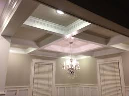 coffered ceiling lighting. Elegance Coffered Ceiling For Attractive Decoration: Modern Living Room Decoration With And Lighting G