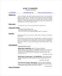 Character Resume Template Animated Resume Templates Rapid Writer
