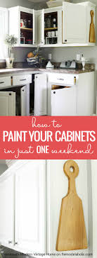 Paint Your Kitchen Cabinets Remodelaholic How To Paint Your Kitchen Cabinets In One Weekend