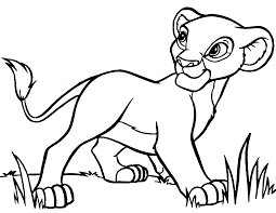 Coloring pages lion king characters