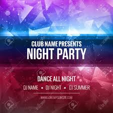 Party Template Night Dance Party Poster Background Template Festival Mockup