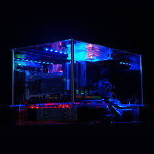 QDIY PC D777XM Horizontal MircoATX HTPC Acrylic Transparent Desktop PC  Computer Case-in Computer Cases & Towers from Computer & Office on  Aliexpress.com ...