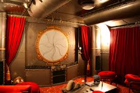 steampunk office. Steampunk Home Theater Office