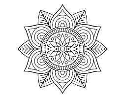 Disegno Di Mandala Fiore Stella Da Colorare Acolorecom