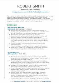Aircraft Mechanic Resume Examples Aircraft Mechanic Resume Samples Qwikresume
