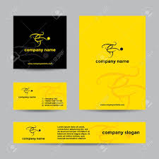 Soccer Business Card Abstract Soccer Player Logo Vector Branding Set Of Banners And