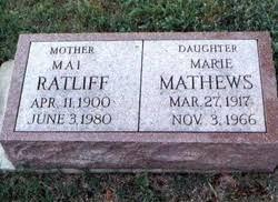 Gracie Mai Ratliff (1900-1980) - Find A Grave Memorial