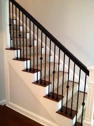 Custom Newel Post Jennifer Taylor Design Custom Staircase Iron Spindles Wood