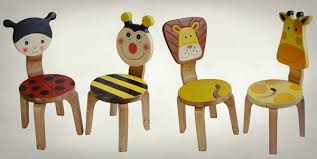 mydeal ludy bug bee or lion giraffe wooden chair set