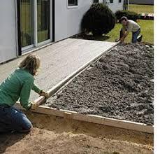 patio concrete slabs. Exellent Slabs How To Lay A DIY Concrete Patio Throughout Patio Concrete Slabs E