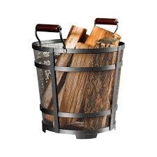 panacea modern prairie log bin 15704 log racks holders ace hardware