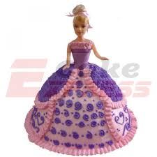 Gurugram Special Pink Purple Barbie Cake Delivery In Gurugram