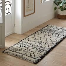 afaw berber style runner rug black white la redoute interieurs la redoute