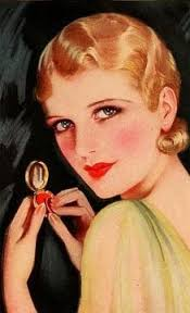 1932 makeup with light rouge on the cheeks
