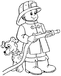 Small Picture Firefighter Coloring Pages For Kids Printable Pages Coloring Home