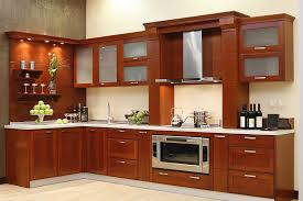 Kitchen Cabinets, Beautiful Brown Rectangle Modern Wood Kitchen Cabinet  Remodel Ideas Varnished Ideas: Kitchen