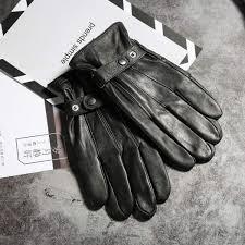 senarai harga new winter men s real leather gloves with fleece male genuine leather gloves men warm guantes outdoor black terkini di malaysia