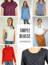 Blouse Sewing Pattern Beauteous Running With Scissors Simple Blouse PDF Sewing Pattern