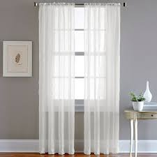 chf pintuck sheer voile window curtain 18 liked on polyvore featuring home home decor window treatments curtains white voile curtains sheer