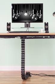 Vertebrae Cable Management Kit Height Adjustable Desk Quad Entry Wire  Organizer