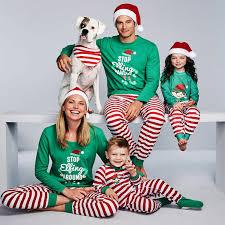 Us 14 43 Matching Family Christmas Pajamas Stop Elfing Around Matching Christmas Outfits Christmas Father Son Mother Daughter Pajamas In Matching