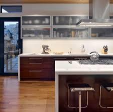 28 kitchen cabinet ideas with glass doors for a sparkling modern home rh decoist com upper kitchen cabinets with glass doors on both sides oak upper kitchen