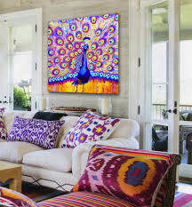 Peacock Colors Living Room Art Blog For Creative Living Transform Your Boring Living Room In