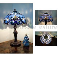 classical baroque style stained glass table lamp fl bedside light room decor