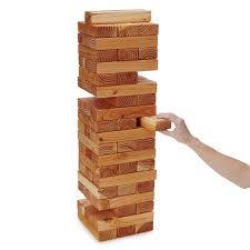 Wooden Brick Game Bricks Yard Game stacking game UncommonGoods 1