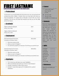 Elegant Resume Template Word Doc Free Best Of Template